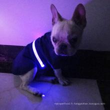 Gilet de sécurité de LED Gilet imperméable d'hiver d'animal familier vêtx la veste chaude pour l'animal de compagnie