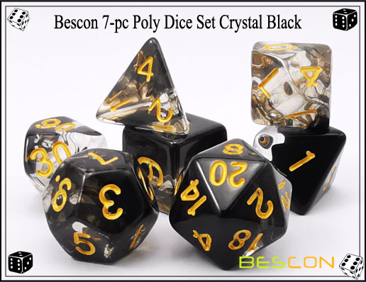 Crystal Black Dice Set-1