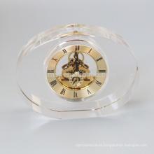 Relógio de cristal oval vazio da forma para o Desktop