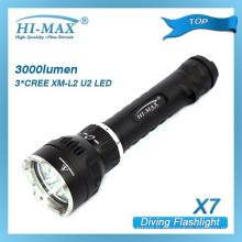 Hi-Max X5 IP68 100 m de profondeur de plongée Froid Blanc 1000 lumen primaire plongée sous marine
