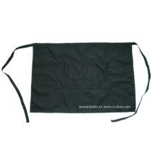 Fabricante de negro sólido personalizado un bolsillo algodón denim restaurante cintura delantal