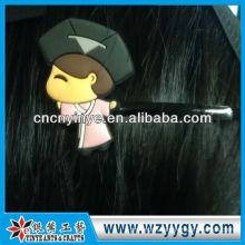 OEM custom cartoon soft pvc hair clip