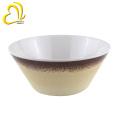 Abziehbild 6-Zoll-Runde Salat Melaminschalen