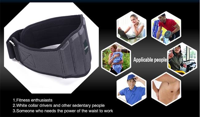 Adjustable Nylon Custom Neoprene Weight Lifting Belt