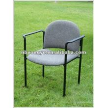 Chaise rembourrée en métal B-003