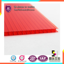 8mm Double Wall Polycarbonate Sheet for Car Parking Awnings