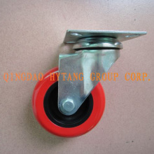 Red PU caster wheel N128xxx
