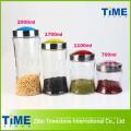 4PCS feijão armazenamento clara frascos de vidro com tampa superior de parafuso