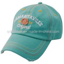 Distressed lavado más gruesa puntadas de golf de bordado de gorra de béisbol (TMB0375)
