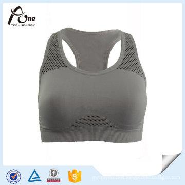 Custom Soft Breathable Seamless Tank Top Women Yoga Bra,
