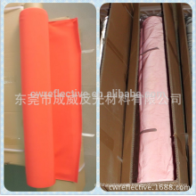 China Dongguan high light bright reflective orange / polyester sky blue reflective fabric