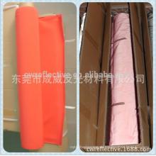 Китай Дунгуань высокий свет яркий светоотражающий оранжевый / полиэстер голубой светоотражающая ткань