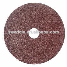 resina sobre o disco de fibra de polimento abrasivo
