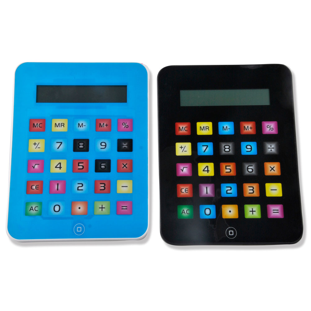 Hot Selling 8 Digit Touch Screen Ipad Shape Calculator