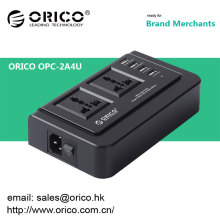 ORICO OPC-2A4U Multifunktions-USB-Ladegerät-Buchse 4 Anschlüsse USB-Ladegerät und kompatibel mit zwei 3-poligen Steckdosen