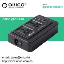 ORICO OPC-2A4U soquete de carregador usb multifunções Carregador USB de 4 portas e compatível com duas tomadas de alimentação de 3 pinos