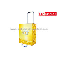 Yellow Square Cardboard Trolley Carton For International Trade Shows