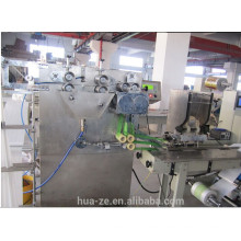 Top level wet tissue plastic bag packing machine