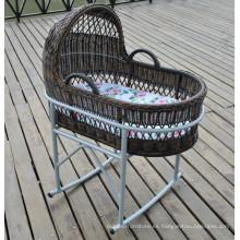 Cuna de mimbre al aire libre muebles Baby Swing