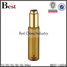 35ml empty essential oil bottles with press pump, brown glass dropper bottle, amber glass bottle with pipette