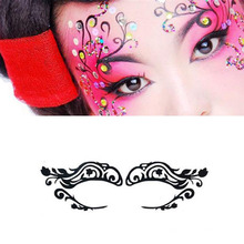 Sexy Lady mode visage Art visage autocollant oeil masque yeux autocollants