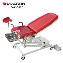 Preço controlado da cama do exame da ginecologia do motor da alta qualidade de DW-C02C