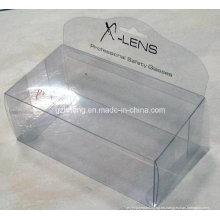 Pantalla competitiva del fabricante que imprime la caja plástica clara para la exhibición (HH08)