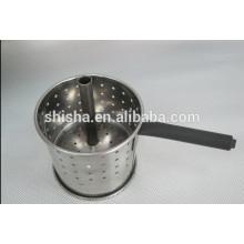 Cachimbo de água cesta de carvão para churrasco carvão carvão titular aço inoxidável da cesta