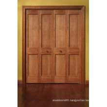 8 Panel Double Opened Clear Painting Solid Wood Exterior Doors