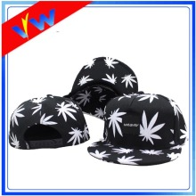 5 Panel Maple Leaves Simple Snapback Cap