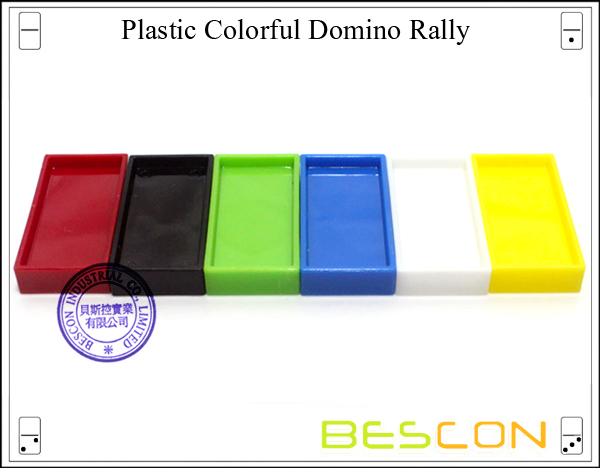 Plastic Colorful Domino Rally-2