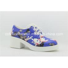 Popular de encaje de señora casual zapatos con flor encantadora