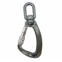 A304KSG Metal Aluminum Swivel Load Snap Screw Lock Hook