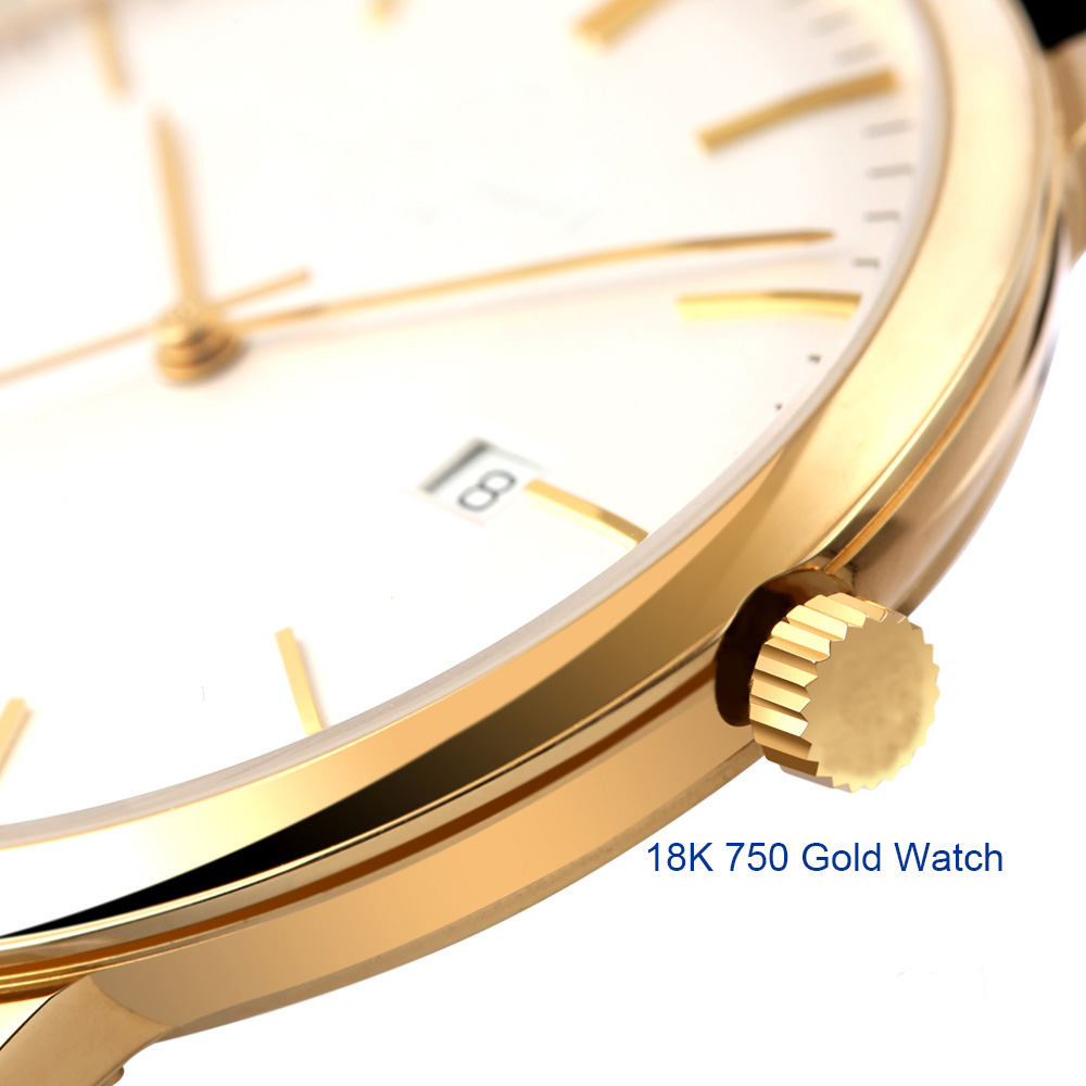 18K men gold watch