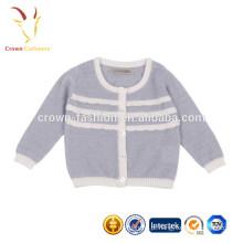 Baby Girls 100% Pure Cashmere em torno do pescoço de malha Cardigans