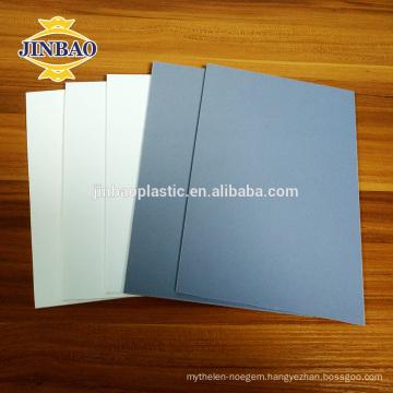 JINBAO solid gray pvc rigid sheet 4x8 1-30mm for construction