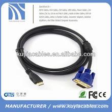 Cable de Svga de 1.8M 6FT de alta velocidad al varón de HDMI al varón