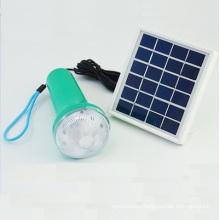 Hot Sales Ebst-D10A Outdoor Mini LED Solar Panel Camping Flashlight