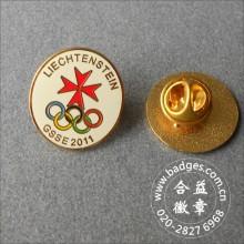 Pin de esmalte de forma redonda, insignia organizacional (GZHY-LP-062)