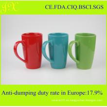 Taza de cerámica al por mayor del esmalte respetuoso del medio ambiente para el café