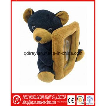 Regalo de Navidad del marco suave de la foto del oso de peluche felpa