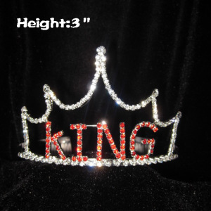 3in Crystal Pageant KING Crowns