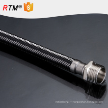 Tuyau métallique flexible en acier J17stainless pour le tuyau flexible de ptfe de haute qualité de chauffe-eau