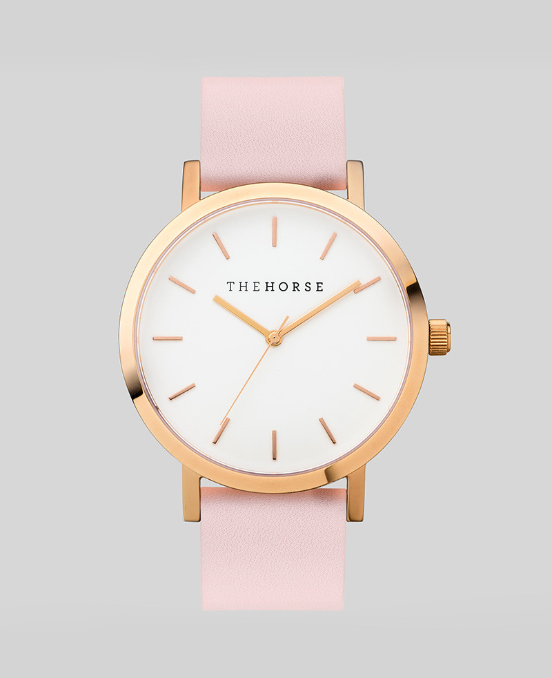 luxury leather lady gold women watch