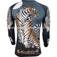 tiger custom made neoprene spandex compression wear rash guard