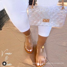 Big size Flat outdoor women fashion jelly shoes slippers  girl jelly shoe for girls  sandal shoes only