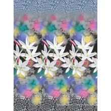 Tissu imprimé en pigments de coton 3D