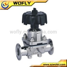 Válvula de control de diafragma neumático de acero inoxidable