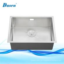 Fregadero de la mesa de cocina de la cocina de la granja blanca de acero inoxidable de un solo lavabo con rejilla