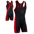 Latest heat transfer printing men wrestling singlets wear